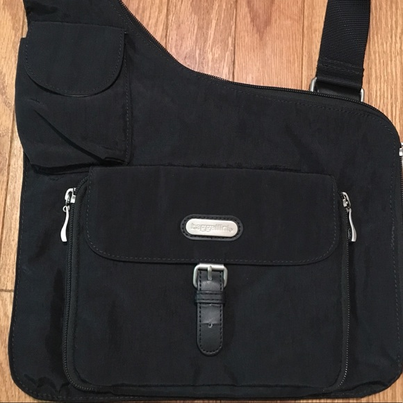 1ca146bdbb Baggallini Handbags - Baggallini Black Nylon Travel Crossbody Bag Purse
